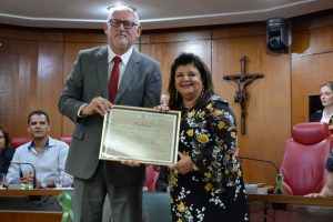Luíza Trajano recebe o Título de Cidadã Paraibana (Juliana Santos / CMJP)