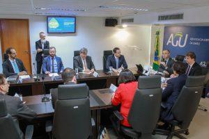 Governadores do NE em reunião na AGU (Divulgação)