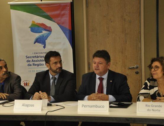 A reunião foi conduzida pelo secretário estadual de Desenvolvimento Social, Criança e Juventude, Sileno Guedes. FOTO: Jumariana Oliveira/Divulgação