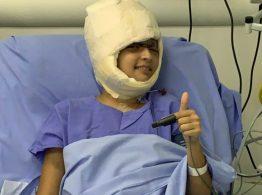 Débora Dantas de Oliveira, de 19 anos, no Hospital Especializado em Ribeirão Preto — Foto: Hospital Especializado/Divulgação